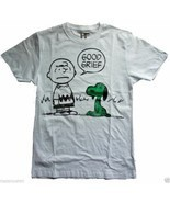 T-Shirt Nuovo Mighty Fine Peanuts Good Grief Uomo St.Paddy's Giorno Snoopy - £25.79 GBP