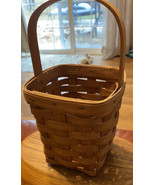 """Longaberger Basket Hand Woven In Ohio 1990 5.5"""" X 5.5"""" X 6.5"""" Tall - $29.47"""