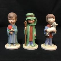 Our Kids Christmas Remembered Boy Figurine Set Jane McDowell Shepherd La... - $34.64