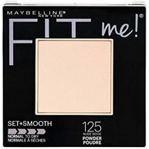 Maybelline New York Fit Me Set + Smooth Powder Makeup, Nude Beige, 0.3 oz. - $7.72