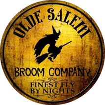 Salem Broom Company Novelty Metal Circular Sign - $21.95