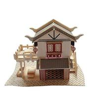 PANDA SUPERSTORE The Teahouse Three-Dimensional Building of Manual Assembly Wood