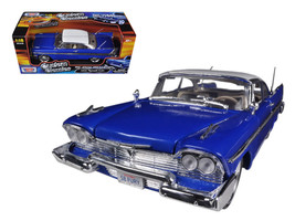 1958 Plymouth Fury Custom Blue with White Top 1/18 Diecast Model Car by Motormax - $62.99