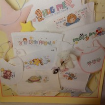 Baby Bibs Cross Stitch Pattern Booklet 3272 2001 52 Designs Animals Teddy Bears - $18.99