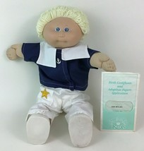 Cabbage Patch Kids Boy Blonde Doll Sailor Outfit and Certificate Coleco 1982 P - $47.18