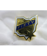 OES 50 Pin OHIO State Shape Order of the Eastern Star Blue White Enamel ... - $6.00