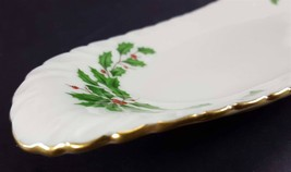 """LENOX China Holiday Dimension Open Butter Dish or Relish Tray 9-1/8"""" Dinnerware image 2"""