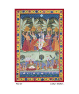 TRADITIONAL PAINTING INDIAN WALL ART HOME DECOR KRISHNA WITH GOPIS. - $310.89