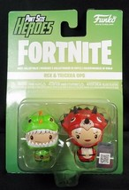Funko Pint Sized Heroes 2 pack Fortnite Rex Tricera Ops NEW - $7.66
