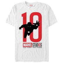 Marvel 10 Anniversary Iron Man Mens Graphic T Shirt - $10.99