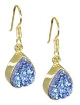 Multi Gold Plated Fashion splendid Druzy jewelry Earring UK gift - $13.17