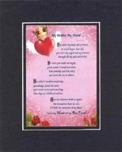 Touching and Heartfelt Poem for Mothers - [My Mother, My Friend ] on 11 ... - $16.33
