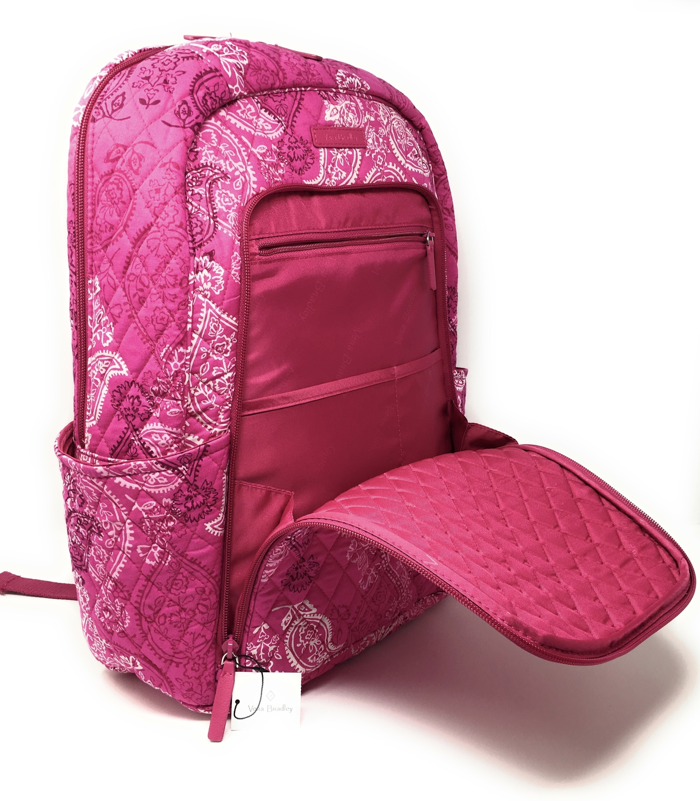 Vera Bradley Laptop Backpack - Stamped Paisley - NWT - $108 MSRP! image 2