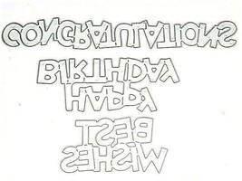 Words Die Set, Congratulations, Happy Birthday, Best Wishes, Set of 3