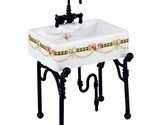 Small Victorian Rose Kitchen Sink 1.740/3 Reutter DOLLHOUSE Miniature