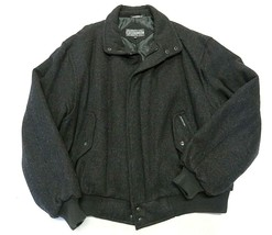 Member's Only Black Zip Up Jacket Wool Adult Men's Size 2X Made in Thailand - $98.95