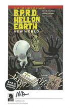 Mike Mignola Hellboy SIGNED Comic Art Print BPRD Dark Horse Promo Hell on Earth - $19.79