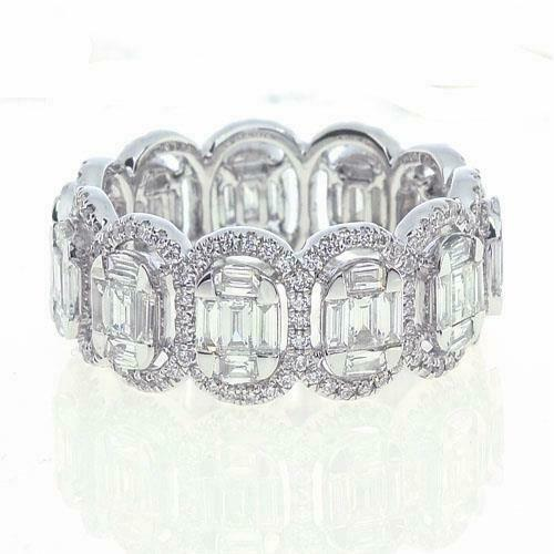 Primary image for 60% CLEARANCE!! $17,142 RARE 18KT GOLD GORGEOUS WHITE DIAMOND ETERNITY BAND RING
