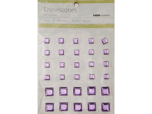 Kaisercraft Lilac Square Rhinestones #58767