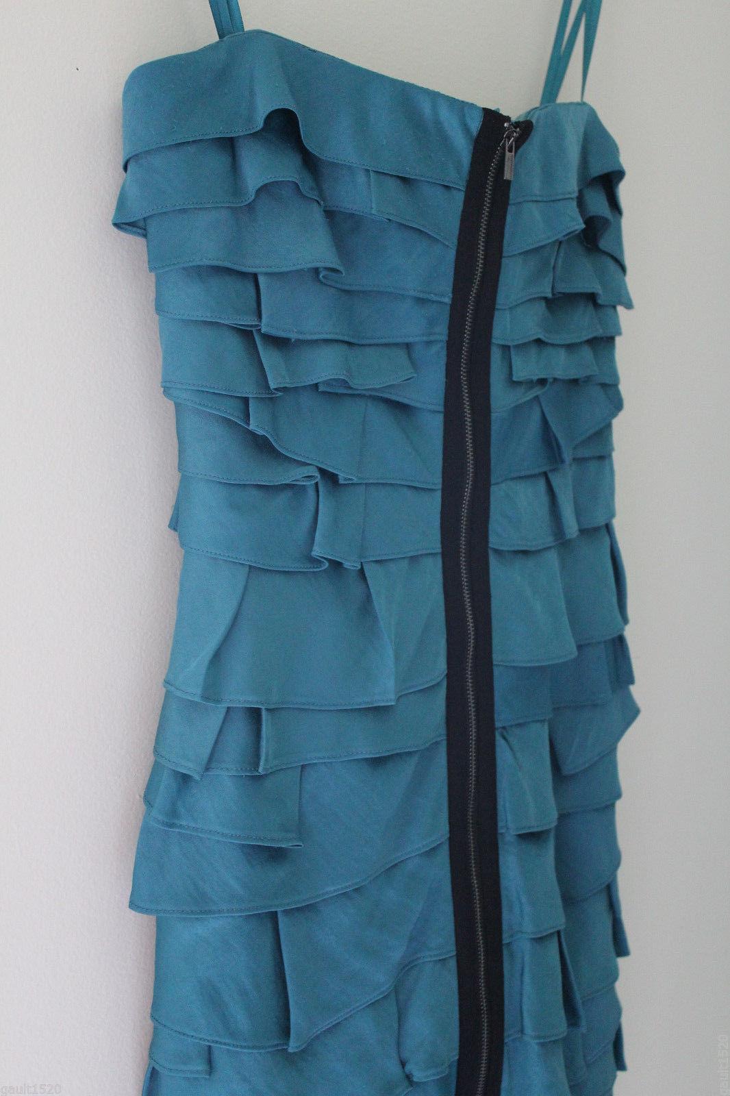 NEW BCBG Max Azria Tahiti Blue Brandie Convertible Tiered Strapless Dress 4 $248