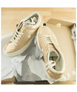 Converse Metallic Gold Leather One Star Oxford Runner Sneakers Size 9.5 NIB - $83.66