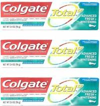 3 Colgate Total SF Advanced Fresh Whitening Gel Toothpaste 3.4 oz Exp:01/22 - $14.84
