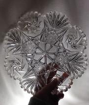 "American Brilliant Period Cut 10"" Plate Platter Buzz Star Fans Hobstars ... - $24.95"