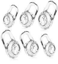 6 Clear SMALL MEDIUM LARGE Eargels for PLANTRONICS DISCOVERY 925 975 Wir... - $3.68