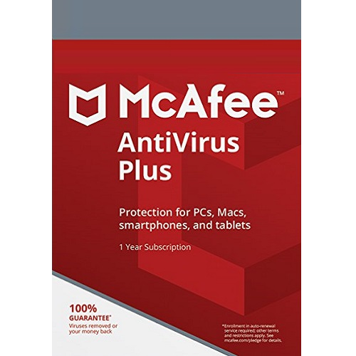 Primary image for MCAFEE ANTIVIRUS PLUS 2020 - 1 Year  1 PC- DOWNLOAD Existing User