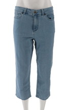 Denim& Co Petite Perfect Denim Crop Length Jeans Bleach Wash 22P NEW A30... - $27.70
