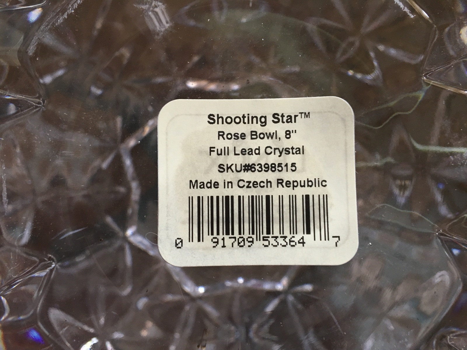 """Lenox Crystal Shooting Star 8"""" Rose Bowl (MIB)"""