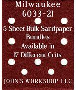 Milwaukee 6033-21 - 1/4 Sheet - 17 Grits - No-Slip - 5 Sandpaper Bulk Bu... - $7.14