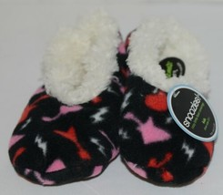 Snoozies 200199P Foot Coverings Guitars Black White Pink Red Kids 13 And 1 image 1