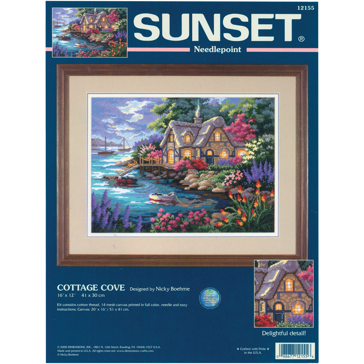 "Primary image for Dimensions Needlepoing Kit 16""X12""-Cottage Cove Stitched In Floss"