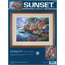 "Dimensions Needlepoing Kit 16""X12""-Cottage Cove Stitched In Floss - $33.71"