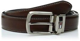 Tommy Hilfiger Men's Reversible Belt, Brown/black, 32