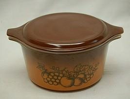 Pyrex Corning Casserole Bowl Dish Lid Old Orchard 1 Quart 473 & 20-C 11 MCM - $34.64