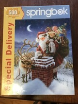 Springbok Special Delivery 500 Piece Jigsaw Puzzle Santa Reindeer Christmas - $24.74