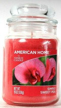 1 Count American Home By Yankee Candle 19 Oz Simply Sweet Pea Glass Candle - £20.00 GBP