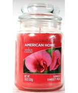 1 Count American Home By Yankee Candle 19 Oz Simply Sweet Pea Glass Candle - $27.99