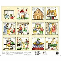 Failry Tales Book Panel 36'' x 44'' Cotton Fabric by Quilting Treasures - $12.74