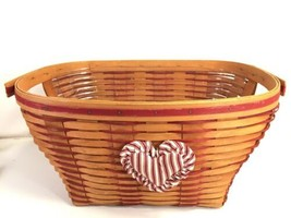 Longaberger Laundry Basket Size With Plastic Liner  Rare Red Weave Made ... - $173.24