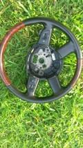 2006 Audi A6 Wood Grain W/BLACK Leather Steering Wheel W/ PADDLE4F0419091BHUQH - $296.95