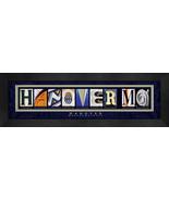 Hanover, Massachusetts Framed Letter Art - $39.95
