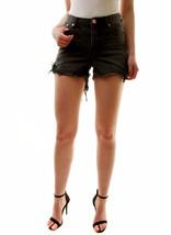 One Teaspoon Women's Basalt Black Hawks Denim Shorts Size 26 RRP $99 BCF71 - $56.12