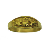 New 24K Yellow Gold Plated Claddagh Ring two hands clasping heart Pick Y... - $23.18