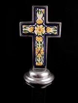 Vintage Religious Alter Cross statue - Ornamental Spanish Mexico Tile  1... - $95.00