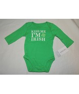 NEW  Baby Carter's Size Newborn Kiss Me I'm Irish Bodysuit St. Patrick's... - $7.91