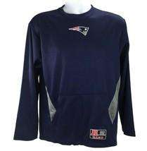 New England Patriots Mens S Sweatshirt Blue Mesh Pullover LS NFL Team Apparel BM - $21.99
