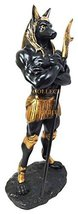 Muscular Dark Anubis Statue Egyptian Deity of Afterlife and Mummification by Pac - $38.48